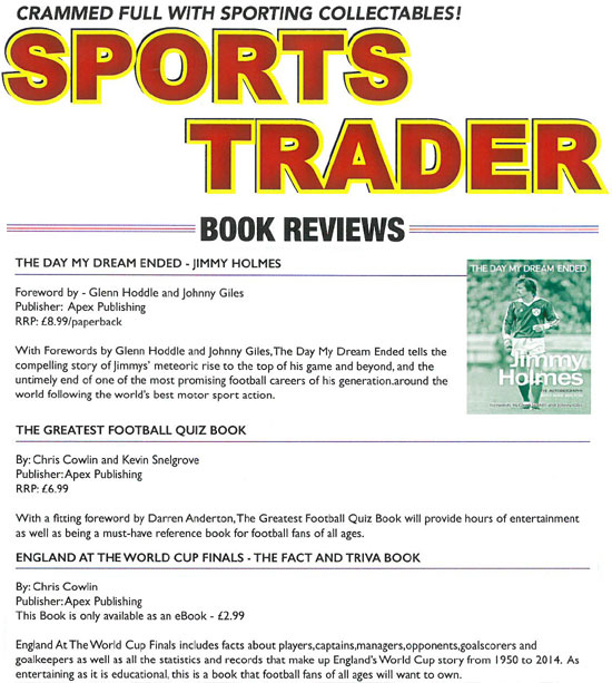 Details of publication apex publishing ltd the greatest football quiz book sports trader magazine fandeluxe Image collections